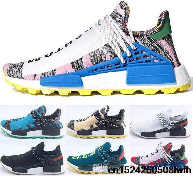 7af7cfc0e 2018 pharrell williams human race nmd men women sports Running shoes black  white grey nmds primeknit
