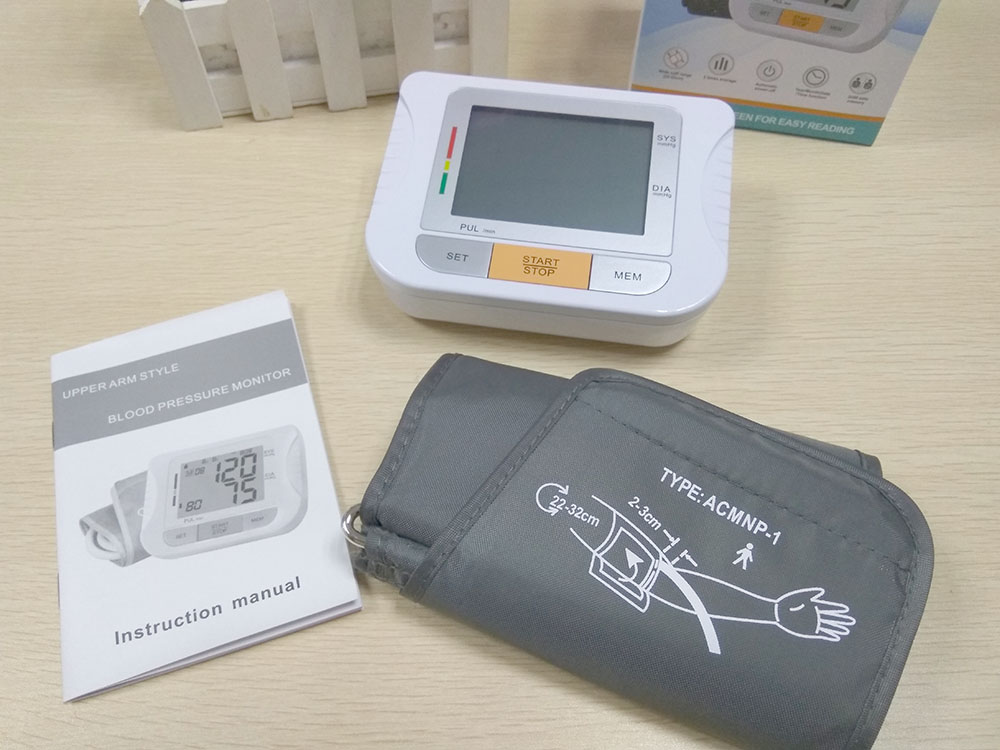 Arm Blood Pressure Pulse Monitor Health Monitors care Digital Upper Portable meter sphygmomanometer pulsometro tonometer (7)