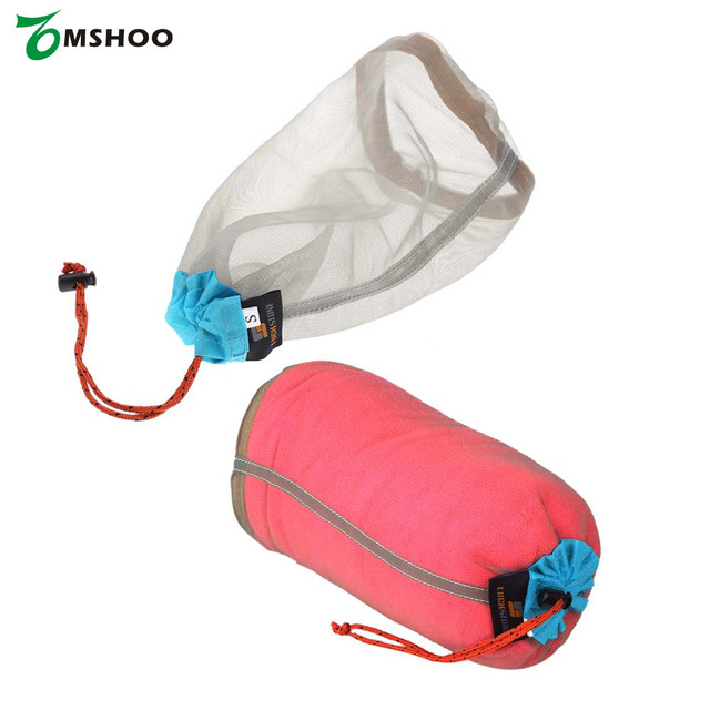 Ultralight Drawstring Mesh Stuff Sack Storage Outdoor Bag For Tavelling Camping Hike Climbing Laundry Cloth Pouch