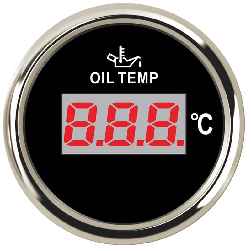 """Alert 2"""" 52mm Oil Temp Temperature Gauge Meter Indicator 50-150 Degree For Auto Motorcycle Car Boat Yacht Celsius 12v 24v Led Pointer Supplement The Vital Energy And Nourish Yin"""