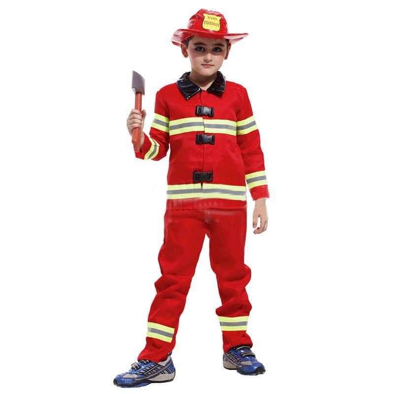 Back To Search Resultsmother & Kids Just Kids Cosplay Fireman Costume Fireman Suit Boys Firefighter Costume For Kids Boys Girls Halloween Christmas Fancy Party Wear Elegant Appearance