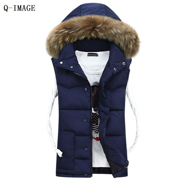 Lovers New Fashion Sleeveless Jacket Winter Warm Waistcoat Slim Casual Colete Masculino Cotton Women Men Vest
