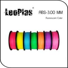 Worldwide Fast Delivery Manufacturer 3D Printer Material 1kg 2.2lb 3mm Fluorescent Color ABS Filament
