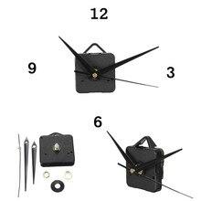 New 1pcs Black Hands DIY Quartz Black Wall Clock Movement Mechanism Repair Parts Silent