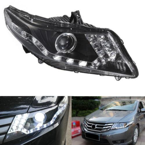 Headlight For Honda City 01/2009-04/2012 With Angel Eyes HALO And Xenon 01 2012