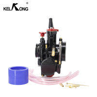 KELKONG Carburetor Universal 28 30 32 34mm Black For Mikuni For Maikuni PWK Carburetor Part Scooters Power Jet Motorcycle ATV