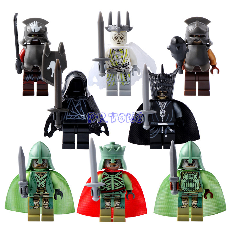 DR.TONG Lord of the Rings Witch-king Uruk Hai RingWraith King of the Dead Mordor Orc Mini Dolls Building Blocks Kids Toys PG8036 the reign of king john
