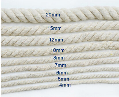 Twist Rope cotton rope thick cotton yarn decorative rope rice white rope