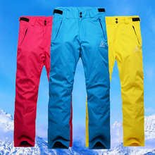 Free shipping Outdoor mountaineering ski pants men thickening wind in winter to keep warm veneer double plate ski pants women