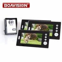 Home 7 TFT LCD Monitor Wireless Video Door Phone Doorbell IR Camera With 3pcs 7 Monitors