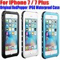Para iphone 7 plus case original redpepper série dot ip68 à prova d' água mergulho submarino pc + tpu armadura capa para iphone 7 ip712