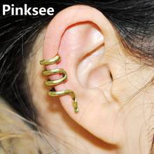 New Punk Rock Snake Ear Clip Cuff Wrap Earring No piercing-Clip on Silver  Bronze[E317]