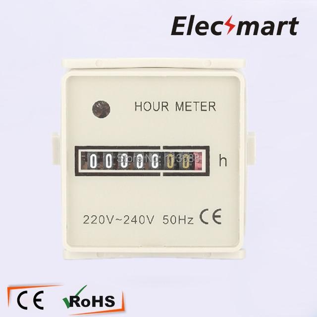Hour Meter HM-2 White AC220-240V 50HZ 0-99,999.99H