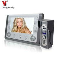 Yobangセキュリティ7インチドアホンtftタッチスクリーンカラービデオドア電話ナイトバージョンインターホンシステムビデオインターホ