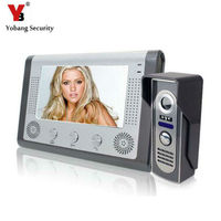 DHL Freeshipping 7 Inch TFT Touch Screen Color Video Door Phone Night Version Intercom System