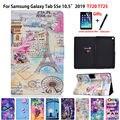 Чехол с изображением башни для Samsung galaxy tab S5e 10 5  2019  SM-T720  SM-T725  умный чехол  чехол для планшета  откидная подставка  чехол + подарок