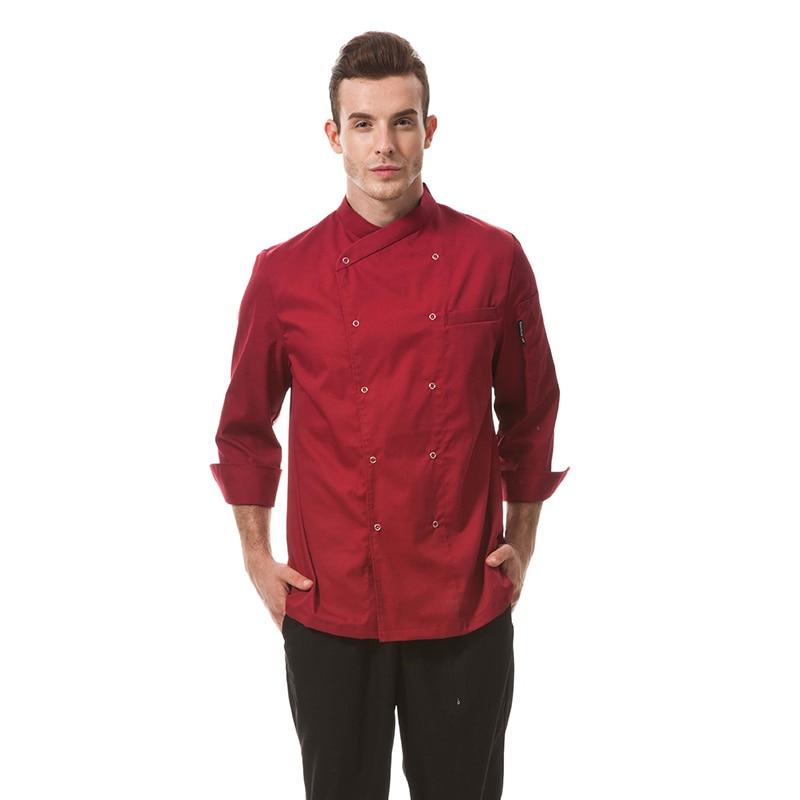 Chinese Style Collar Unisex Restaurant Hotel Kichen Chef Coats Jackets Uniform
