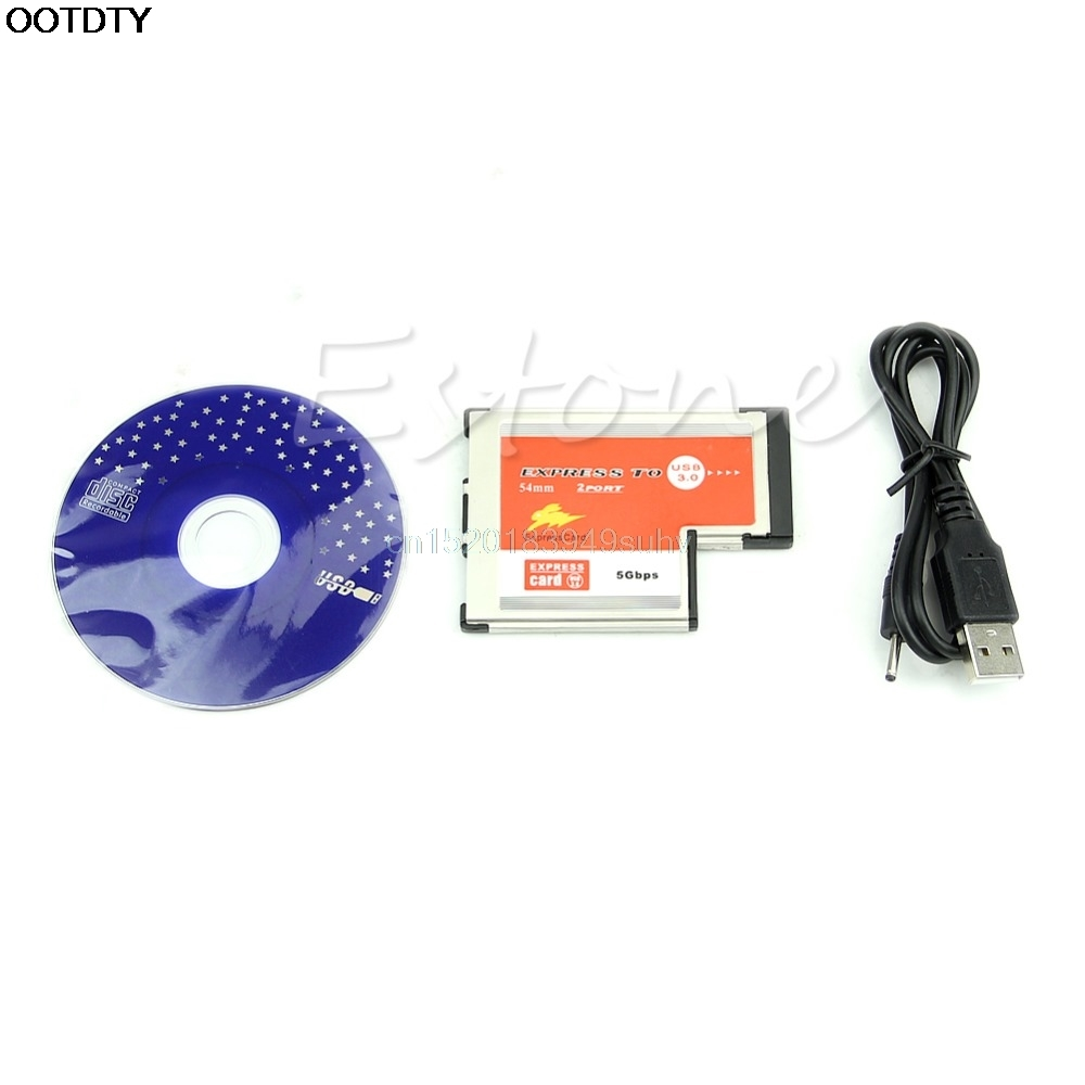 2 Port USB 3.0  EXPRESSCARD Expansion Card for Laptop New hot