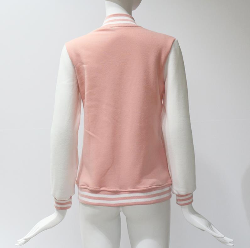 HTB1Q3PucMHqK1RjSZFEq6AGMXXaR Women Baseball Jacket Casacos Femininos Preppy College Jackets Bomber Jacket 2018 New Autumn Winter Coats Basic Outwear XXL