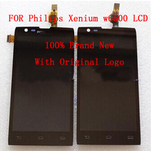 100% Original FOR Philips xenium w6500 front panel assembly LCD display +Digitizer Touch Screen