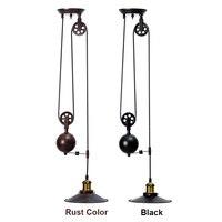 Single Vintage Loft Retro Pendant Light Sconce Hanging Pulley Lamp Fixtures Restaurant Bar Home Decoration