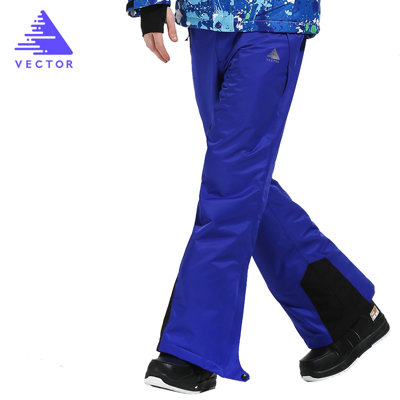 VECTOR Brand  Ski Pants Men Warm Winter Windproof Waterproof Snow Skiing Snowboard Pants Outdoor Winter Trousers HXF70016 denim suspenders for ski pants men waterproof snow pants ski trousers thick warm breathable jean snowboard pants plus size s 3xl