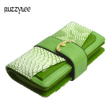 Real Crocodile Leather Women Wallets Vintage Purses Long Luxury Retro Wallet Female Cell Phone Women's Purse Clutch Card Holder