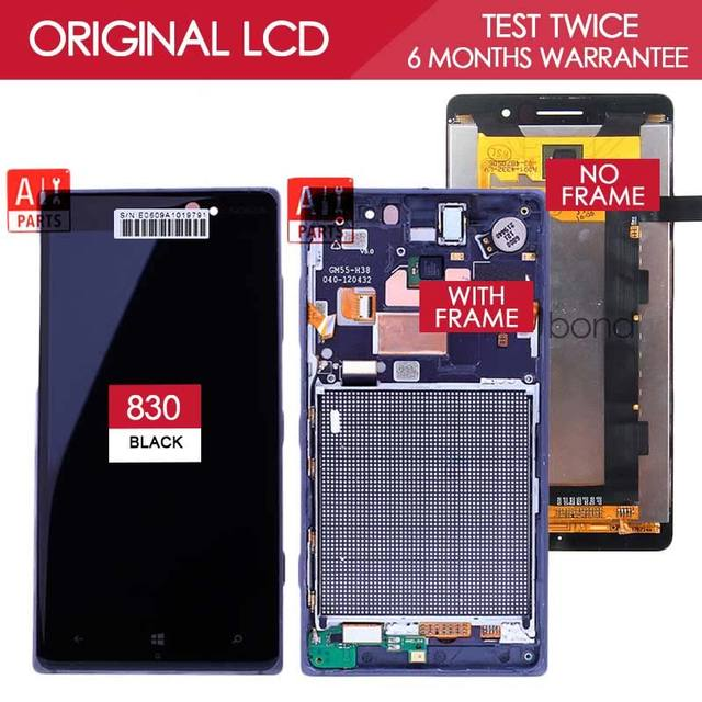 100% Tested Original TFT 1280x720 Display For NOKIA Lumia 830 LCD Touch Screen Digitizer Assembly with Frame Replacement Parts