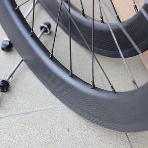 """Image 2 - Silverock fibra de carbono 20 """"451 406 rodados 24h aro pinça freio a disco para bicicleta dobrável minivelo rodas"""