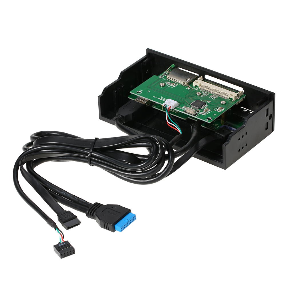 Sunshine-tipway STW 5,25 lector de tarjetas interno Media multifunción tablero de instrumentos Panel frontal tipo C USB 3,1 USB 3,0 soporte CF