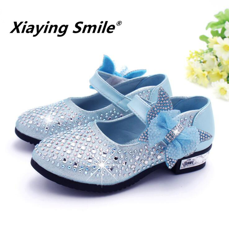 Baby Girls Shoes Children Loafer Kid Shoes Spring Summer Sweet Bowtie Bling  Crystal Hook And Loop Flat Slip On Shoes-in Sneakers from Mother   Kids on  ... 5b41fda5cdb
