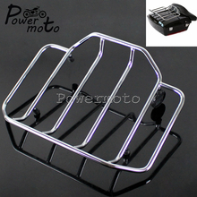 Rack-Holder Top-Rail-Luggage Tour-Pack Chrome Motorcycle Harley-Touring Chopped for Pak