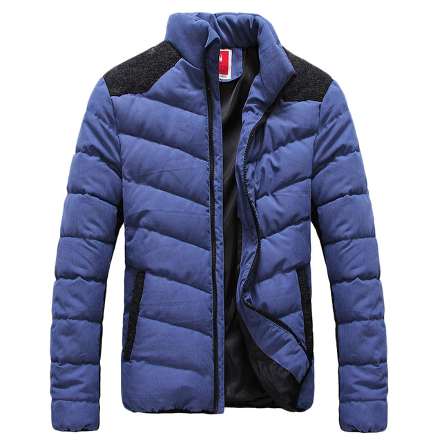 2016 Winter Jackets Men Cotton Padded Coats Patchwork Warm Thick Men Clothes High Quality Zippered Jersey Jacket Plus Size 5XL