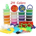 Including Free Molds Clay 24 Colors Playdough Hand-made Color Plasticine With Mould Set slime magnetic Polymer Clay