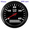 Waterproof Car Boat Tachometer Gauge RPM Tachometer With Hour Meter 6000  4000  8000 RPM Gauge for Audi Peugeot BMW Ford Focus discount