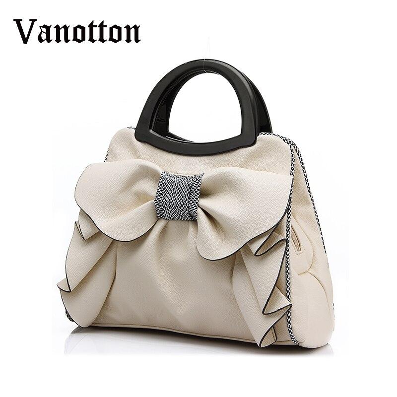 41767d0f9 Nova marca sacos de ombro do saco das mulheres com grande arco senhoras  bolsa de grife de alta qualidade preto pu leather tote bag 8 cores