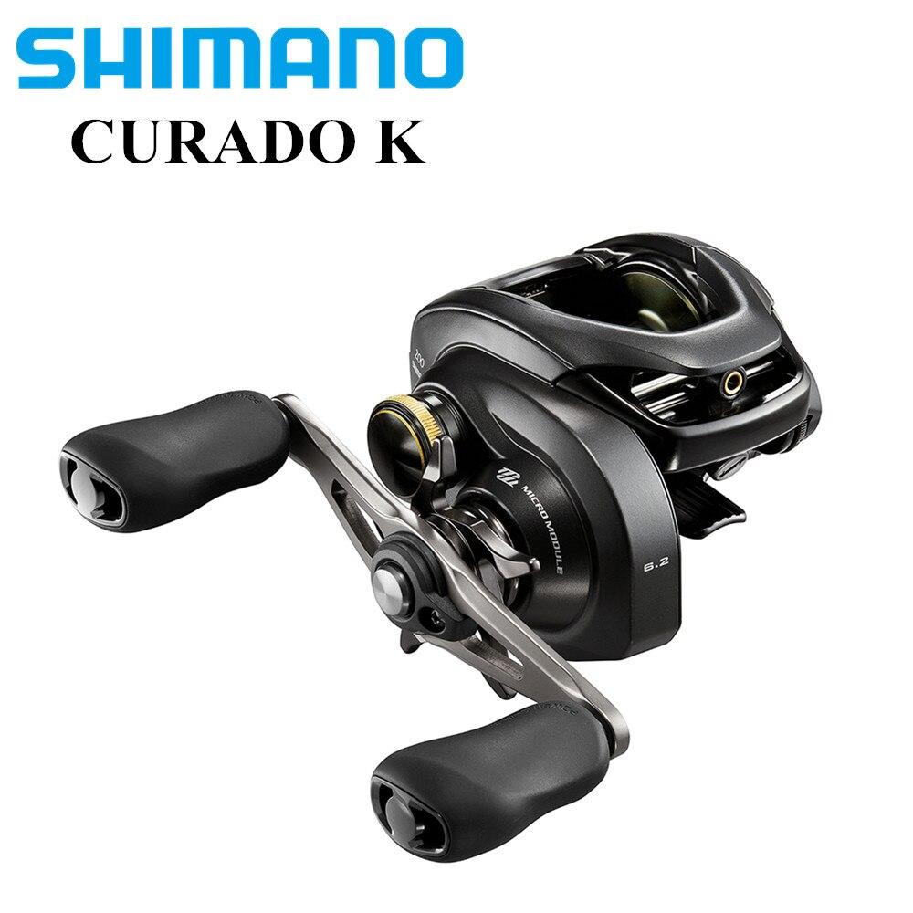 SHIMANO CURADO 200/201 R/L dos secciones de carrete de la pesca 6 + 1BB/6,2: 1 engranaje mimodulo Hagane cuerpo Carretilha Pesca Moulinet fundición