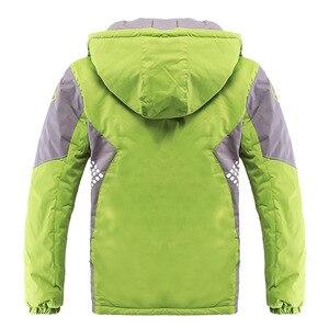 Image 4 - 어린이 겉옷 따뜻한 코트 스포티 한 아이 옷 방수 windproof thicken boys 소녀 면화 패딩 자켓 가을, 겨울