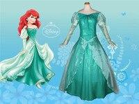 Filme mulheres ariel a pequena sereia ariel princesa traje fancy dress cosplay dress
