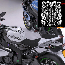White Motorcycle Antelope Flame Gas Tank Decals Stickers For Honda Shadow VT750 Universal