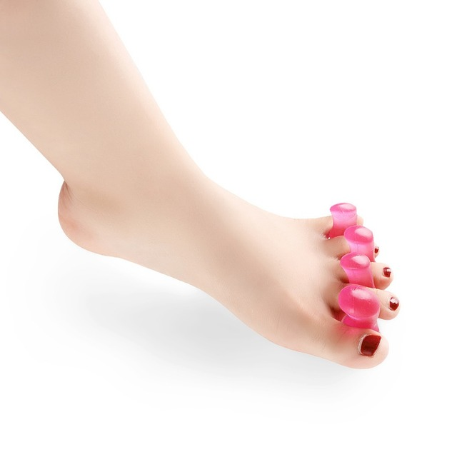 krasovki 2016 new hot silicone hallux valgus hallux valgus care appliances red female models sub toe toe separator Foot Care