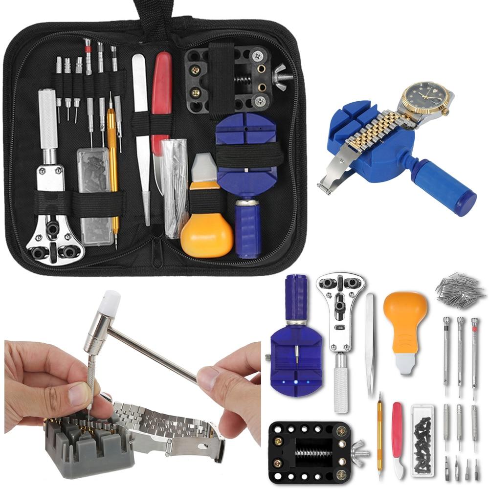 Uhr Reparatur Werkzeug Kit Fall Opener Band Link Pin Remover Uhrmacher Horloge Gereedschap Uhren Werkzeuge Für Fossil Rolex_watch Uhren Uhrenzubehör