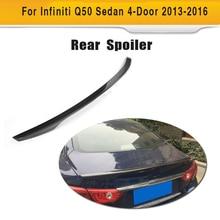 Карбоновый задний спойлер багажника автомобиля крыло для Infiniti Q50 Седан 4 двери- три стиля