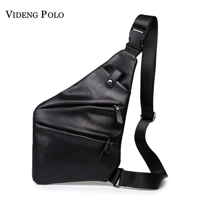 9c50db889b1f VIDENG POLO 2018 Men s Messenger Bag Leather Multipurpose Chest Pack Sling Shoulder  Bags Man Casual Crossbody Homme Bolsas-in Crossbody Bags from Luggage ...