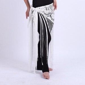 Image 5 - 2019 Kadın Seksi Oryantal dans kostümü Tribal Püskül cıngıllı şal Çiçek Bayanlar Oryantal Dans korse Etek Saçaklar 6 Renkler