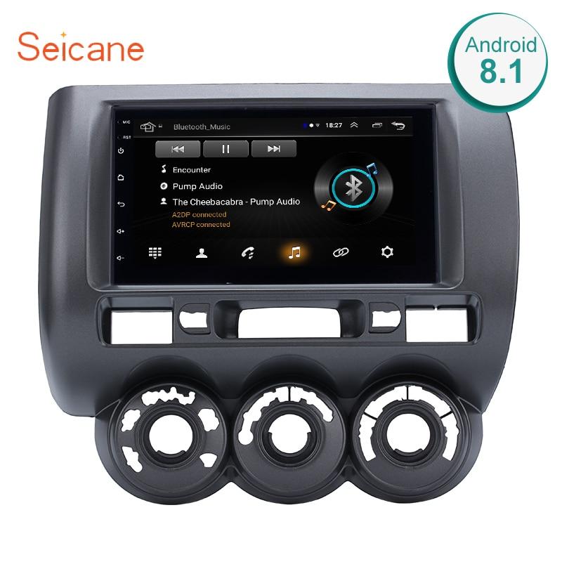 Seicane Para 2002 2003-2008 HONDA Jazz (Manual AC, RHD) reprodutor multimídia carro 2DIN Android 8.1 Wifi GPS de Navegação rádio stereo