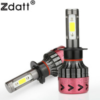Zdatt 2Pcs Super Bright H4 Led Bulb 80W 8000Lm Car Led Headlight H1 H7 H8 H11