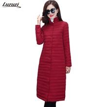 1PC Thin Cotton Long Coat Winter Jacket Women Winter Coat Women Casaco Jaqueta Feminina Manteau Femme ZZ3535
