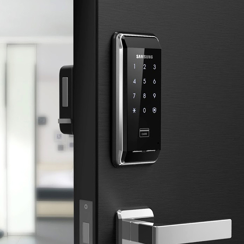 SAMSUNG EZON SHS-2920 Fingerprint Digital Door Lock Keyless Security System With 2 Key Tags +6 RFID Card