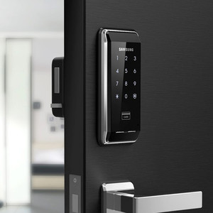 Image 1 - SAMSUNG EZON SHS 2920 Fingerprint Digital Door Lock Keyless Security System With 2 Key Tags +6 RFID Card